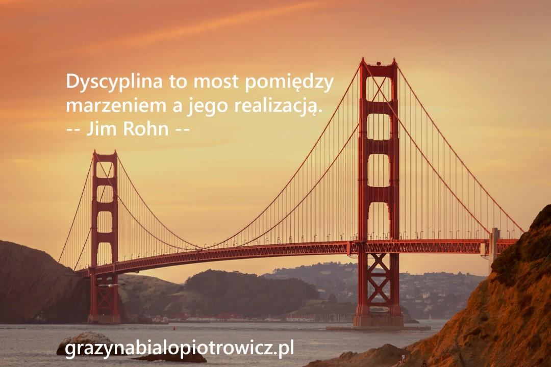 Dyscyplina to most między marzeniami a ich realizacją